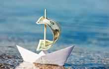 Кораблик с денежным парусом