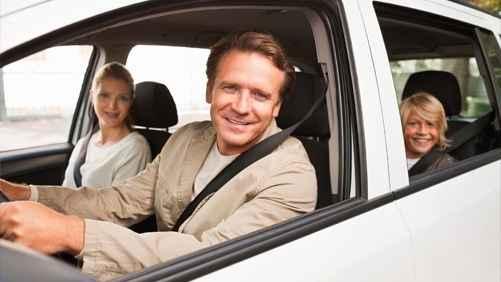 семья в авто