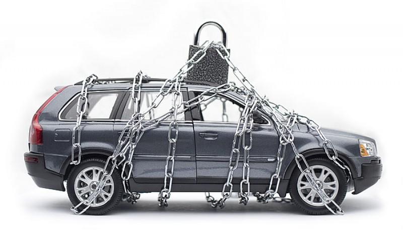 автомобиль в цепях