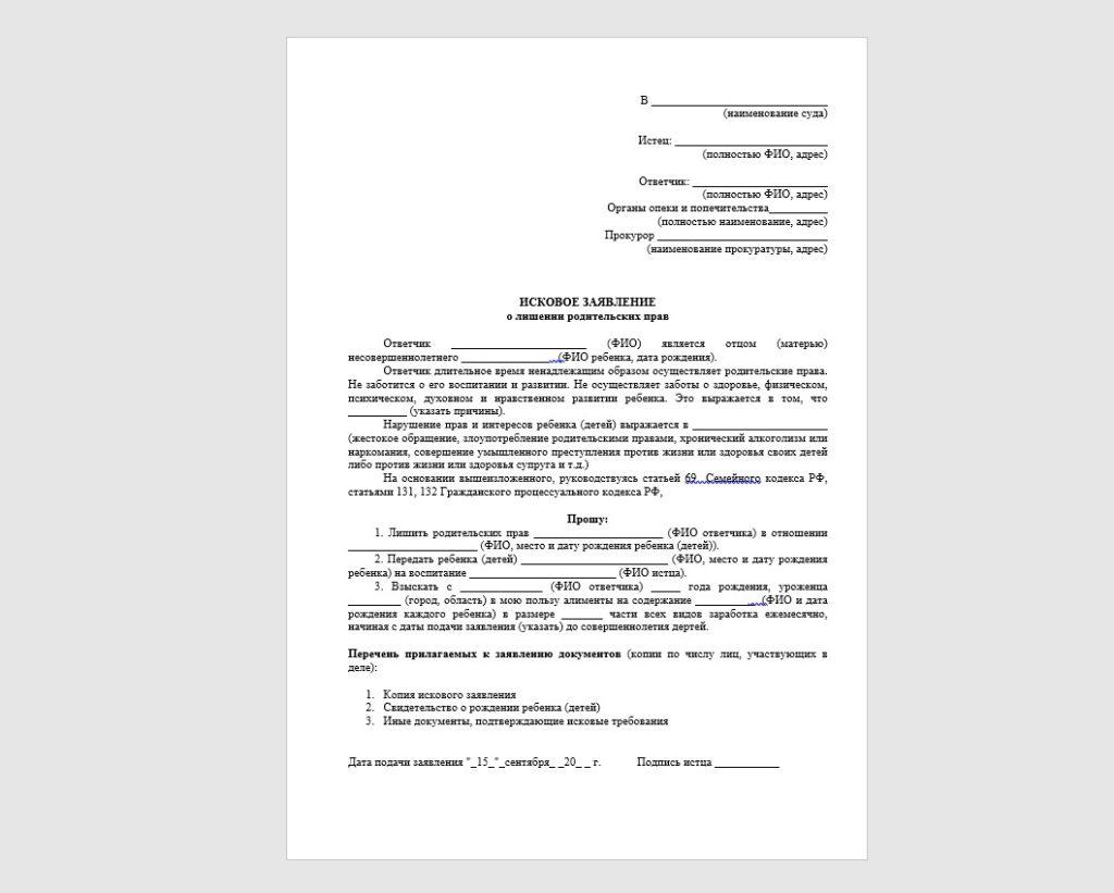 Постановление о лишении родительских прав — основные правила, составление заявления, причины лишения прав